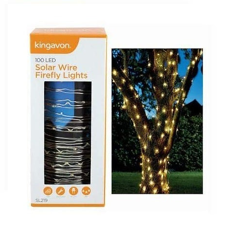 100 LED Solar Firefly Garden Decorative Lights