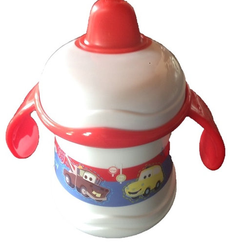 Cars Baby's Twin Handled Beaker. Disney themed cars design twin handle baby beaker
