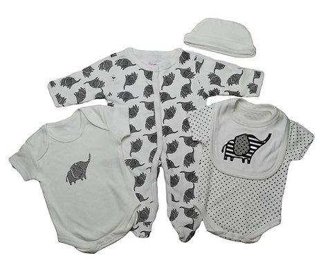 Baby 5 Piece Clothing Set Elephant