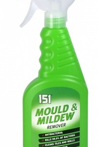 Mould & Mildew Remover Antibacterial. Kills 99.9% of bacteria. Cleans tiles, walls, sinks, plastic shower curtains and shower