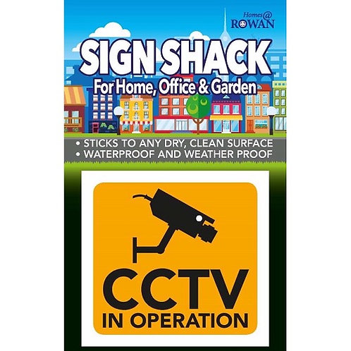 CCTV Sticker for use in and around the home and office