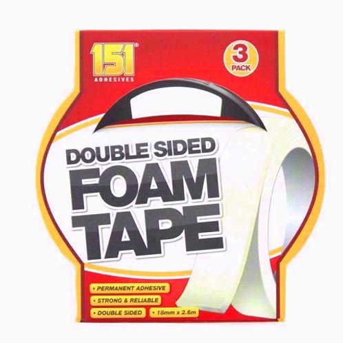 Double Sided Foam Tape permanent adhesive, strong and reliable, ideal for mounting your work or pictures to be displayed
