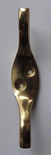 Cleat Hook Brass Plated 80mm