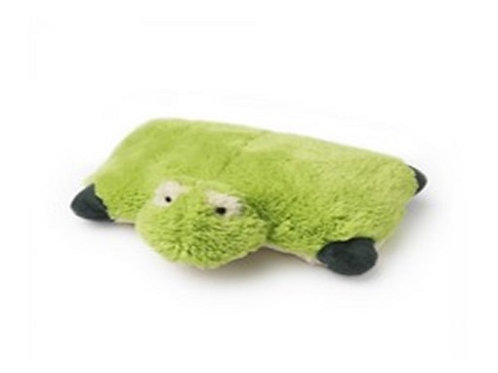 Pillow Heads Folding Cushion Frog a soft toy that quickly and easily converts into super soft pillow