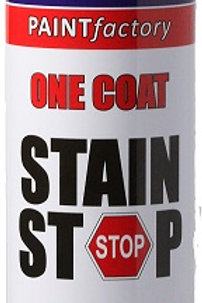 Stain Stop Spray covers most type of paintwork stains and helps prevent them reappearing, e.g. grease, pen, crayons, rust