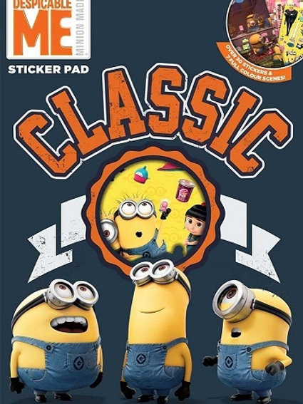 Despicable Me sticker pad with 7 full-colour scenes from the hit films to decorate with over 30 fun stickers