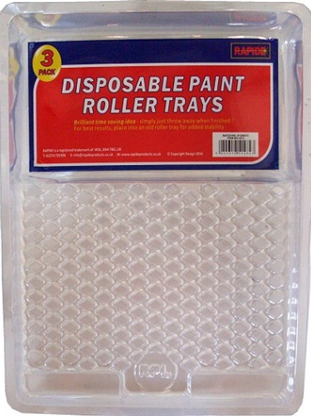 Disposable paint roller tray inserts are time savers, either wash and reuse, or wash and recycle, or throw in the bin