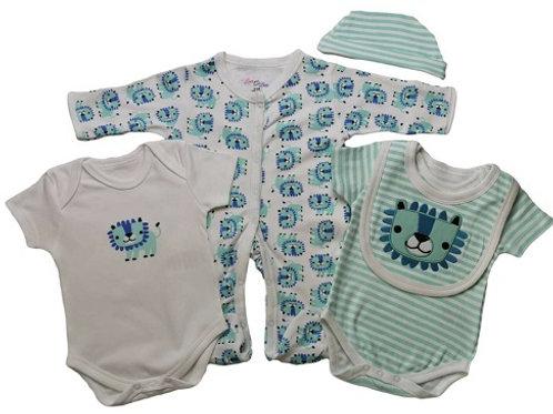 Baby 5 Piece Clothing Set Lion