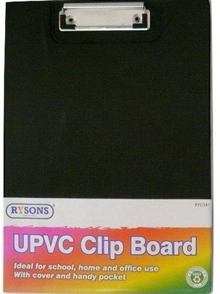 Black A4 Foldable Clip Board