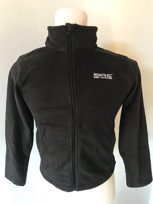 Black Regatta Junior Full Zip Fleece Top
