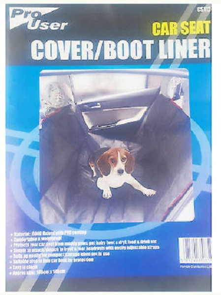 Car Seat and Boot Liner can be used as a boot liner and also as a liner to hang between the front and back seats