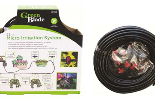 Irrigation System allows you to water your pots, containers, beds, borders or greenhouses evenly, with one turn of the tap