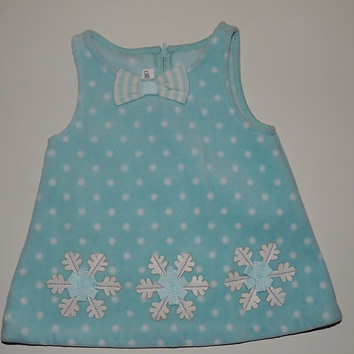 Blue and White Snowflake Dress