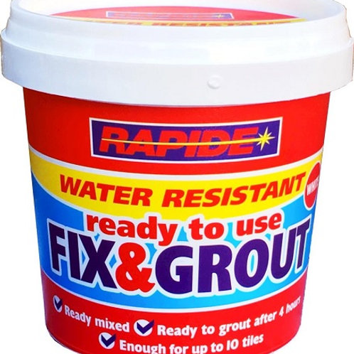 Tile Fix and Grout is ideal for fixing tiles to most substrates including wood and surfaces subject to small movement