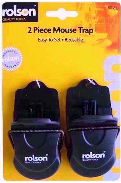 Plastic Mouse Traps with a sensitive quick action mechanism fpr catching mice in the home, pest control for the house