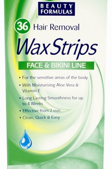 These Wax Strips are hair removal strips for the face and bikini line. for sensitive areas of the body