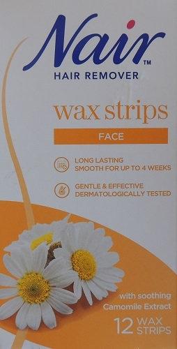 Nair Facial Hair Removal Wax Strips