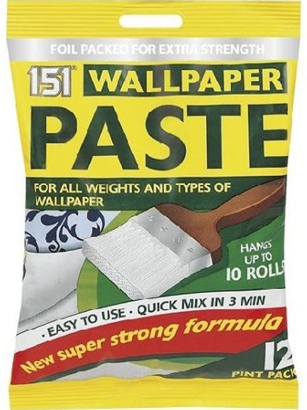 Wallpaper paste for all weights and types, hangs up to 10 rolls of normal wallpapers, including wood chip.