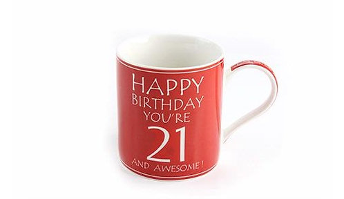 Awesome You're 21 Boxed Mug