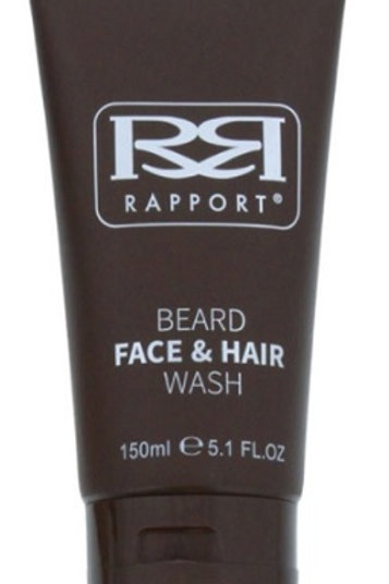 Beard Face & Hair Wash deep cleans beards of dirt, flakes and odours without drying out facial hair and skin