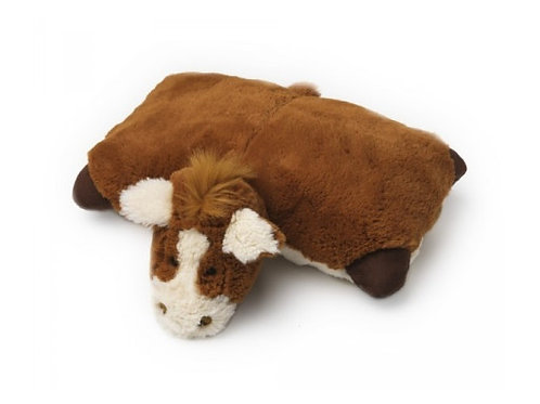 Pillow Heads Folding Cushion Horse a fantastic innovative soft toy that quickly and easily converts into super soft pillow