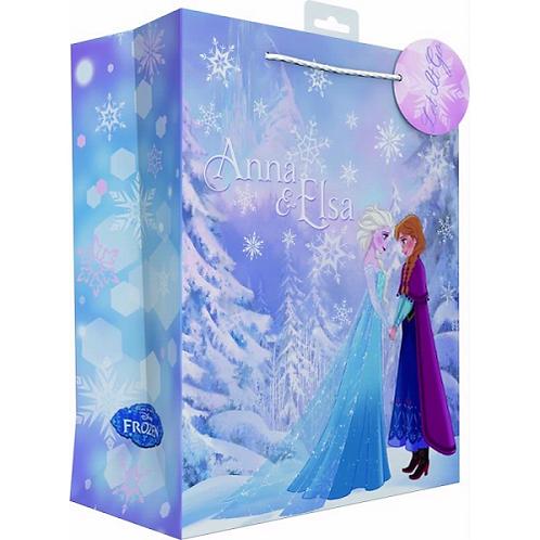 Official Disney Frozen Anna & Elsa Large Gift Bag including gift tage
