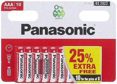 Panasonic Zinc AAA R03 Batteries 10 Pack