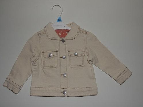 Denim Look Jacket Cream