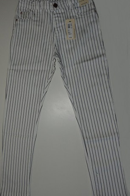 Girls White Pinstripe Denim Trousers  Imported from the UK  ExRiver Island UK High Street Fashion Store