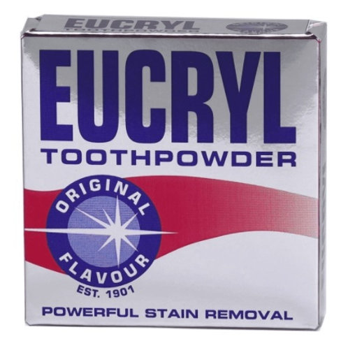 Eucryl toothpowder helps remove stains caused by smoking or drinking tea, coffee or red wine