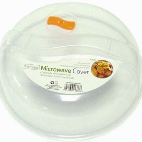 Microwave Plate Cover made of durable plastic, with steam vent, with a sculpted top to grip when putting on and removing