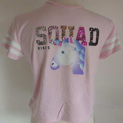 Pink Unicorn T-Shirt front view
