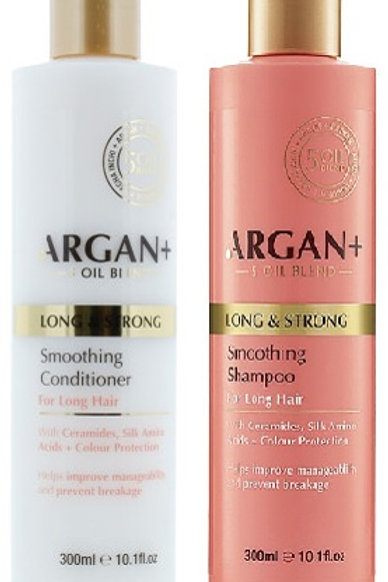 Argan Oil Shampoo and Conditioner Keep your hair looking its best with the luxurious Argan + long and strong haircare