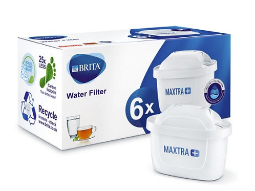 Brita Maxtra Filters 6 Pack for use in all Brita Jugs to filter water and remove impurities