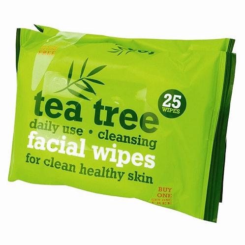 Tea Tree Facial Wipes 2 x 25