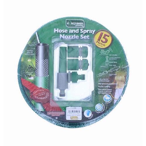 15 Metre Garden Hose Set