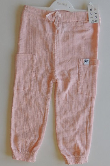 Newborn pink trousers, baby pink trousers, girls pink trousers