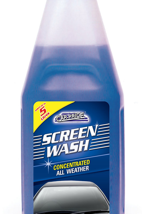 Carpride screenwash is made from an effective formula that includes special softening agents to eliminate dirt and grime