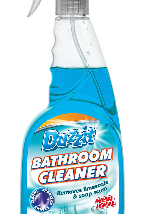 Bathroom Cleaner removes limescale and soap scum. Use on sinks, counters, floors and bathrooms to kill bacteria
