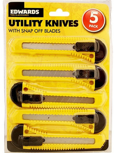 Utility knives are ideal to have around the home or in the workshop and are perfect for DIY and arts and crafts