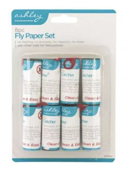 Fly Paper Set clean andeasy to use set contains 8 tubes of flypaper to help catch flies with no baiting, no poisons, no
