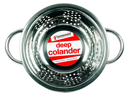 Stainless Steel Deep Colander - 19cm Diameter
