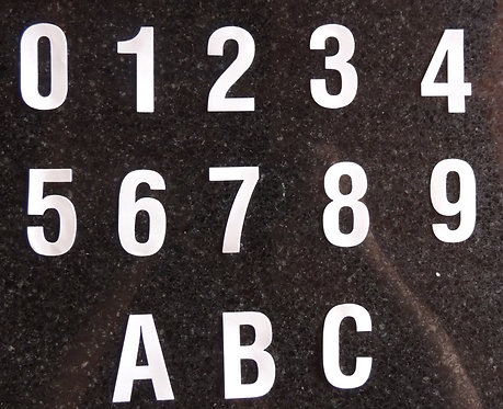 Vinyl Self Adhesive Numbers and Letters
