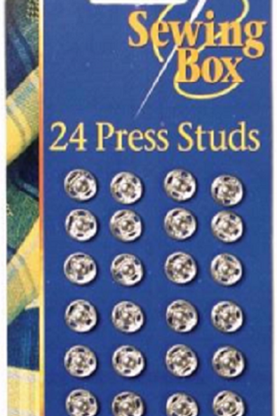 24 Pack of Press Studs have many uses in sewing, crafting clothe making and haberdashery