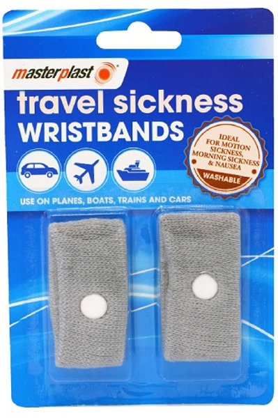 Travel Sickness Wristbands  for motion sickness, morning sickness and nausea.  Use on planes, boats, trains and cars