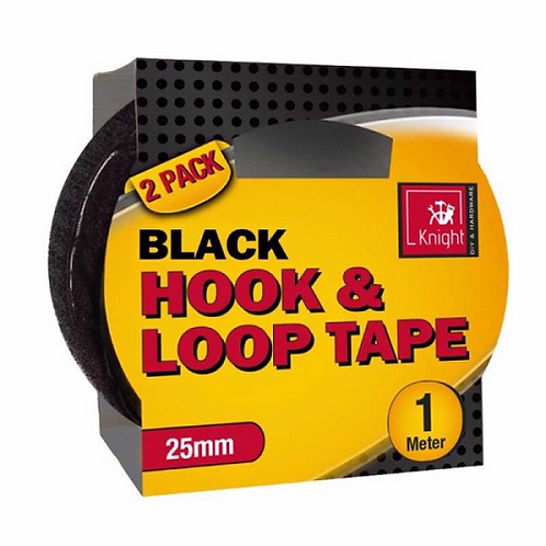 Adhesive Hook and Loop Tape Strong & Reliable 100's of uses 1m HOOK 1m LOOP