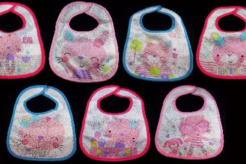 Baby Feeding Bibs - Cat & Bunny Design