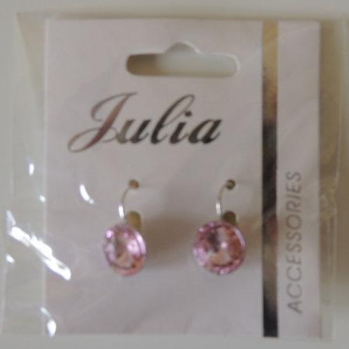 Pink Round Drop Earrings