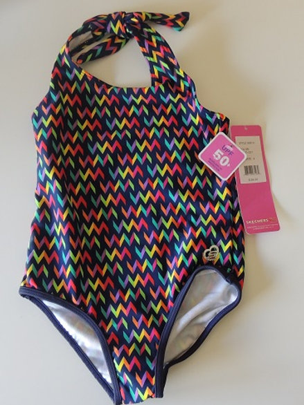 Skechers Striped Patterned Swimsuit