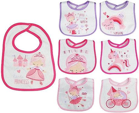 Baby Feeding Bibs - Princess Design